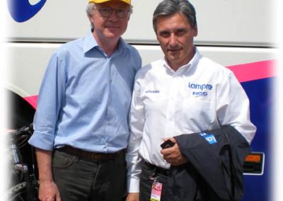 Antonio Ongarello e Beppe Saronni