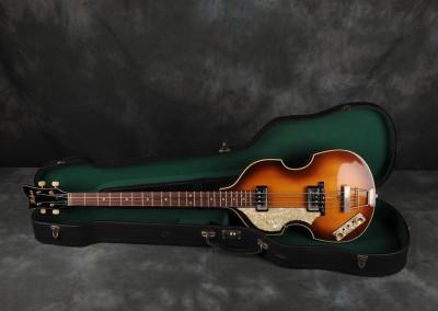 1990 Hofner Violin Bass Left Hand Riedizione del 1963
