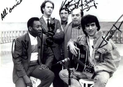 Pele - Falcao - Toto Cutugno e Lino Banfi